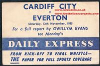1955 Cardiff City Daily Express signed